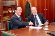 Jaime Sánchez Revenga, presidente da FNMT-RCM, e António Osório, presidente do conselho de administração da INCM