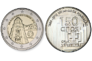 The coin alluding to the Tower of Clerics was created by the sculptor Hugo Maciel and the coin of the Red Cross was designed by José Bandeira and Delgado Nunes