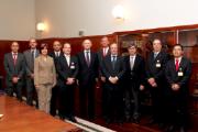 Delegação brasileira foi recebida no Salão Nobre da Casa da Moeda