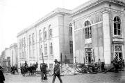 Imagem da construção do atual edifício da Imprensa Nacional, inaugurado em 1913