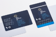 Recycled PETG cards are more sustainable and have less environmental impact
