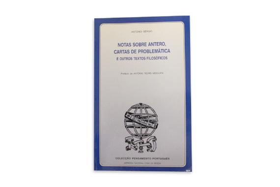 Photo 1 of product Notas Sobre Antero, Cartas de Problemática e Outros Textos Filosóficos