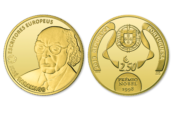 Foto 1 do produto Escritores Europeus - José Saramago (Ouro Proof)