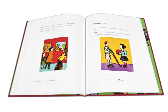 Foto 5 do produto Constituição da República Portuguesa trocada por (para) miúdos (A)