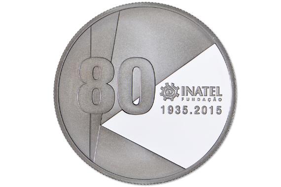 Foto 2 do produto Medalha Comemorativa dos 80 Anos da INATEL