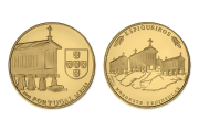 Granary Houses from Northwest of Portugal (Gold Proof)