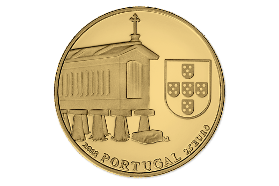 Photo 3 of product Granary Houses from Northwest of Portugal (Gold Proof)