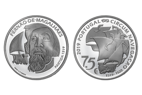 Photo 1 of product 500TH Anniversary Of Magellan Circun-Navigation - The Departure 1519 (Prata Proof)