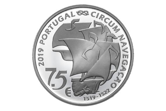 Foto 3 do produto V Centenário Da Viagem De Circum-Navegação De Fernão De Magalhães - Partida 1519 (Prata Proof)