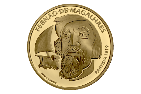 Foto 2 do produto V Centenário Da Viagem De Circum-Navegação De Fernão De Magalhães - Partida 1519 (Ouro Proof)