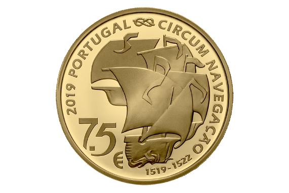 Foto 3 do produto V Centenário Da Viagem De Circum-Navegação De Fernão De Magalhães - Partida 1519 (Ouro Proof)