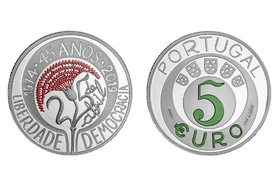 Photo 1 of product 45th Anniversary Of The Carnation Revolution (Silver Proof)