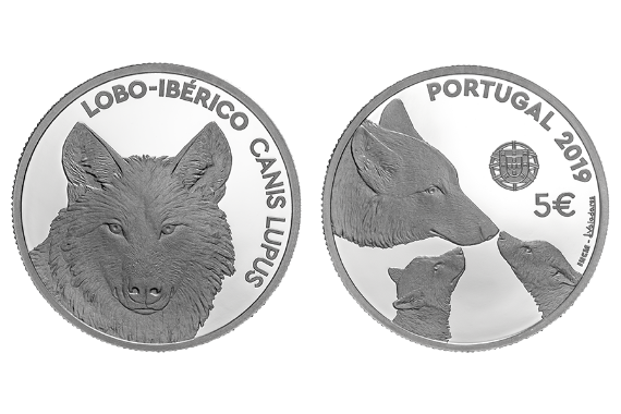 Photo 1 of product Endangered Fauna Species - The Iberian Wolf (Silver Proof)