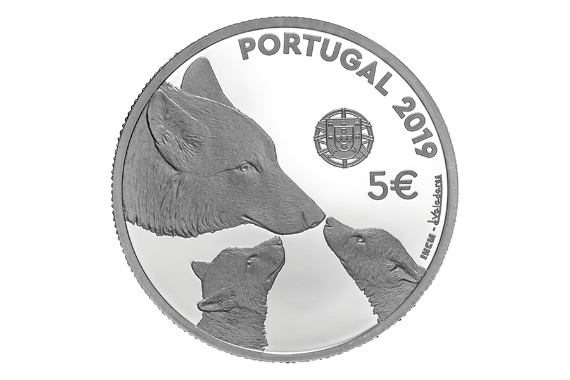 Photo 3 of product Endangered Fauna Species - The Iberian Wolf (Silver Proof)