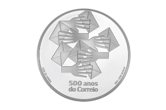 Foto 2 do produto 500 anos do Correio (Prata Proof)