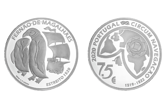 Photo 1 of product 5th Centenary of Ferdinand Magellan Circumnavigation - The Passage of the Strait 1520 (Silver Proof)