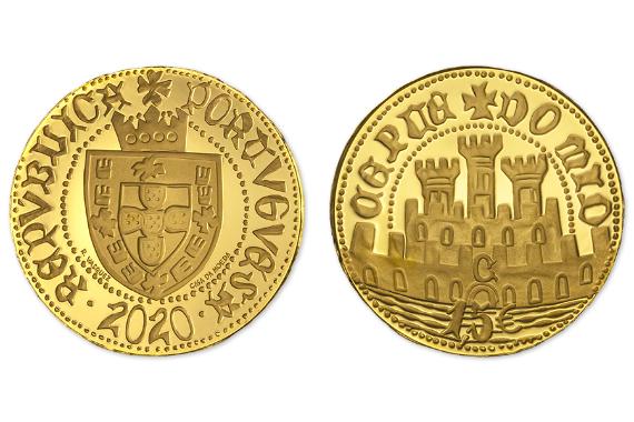 Foto 1 do produto Meio Escudo Ceuta  (Ouro Proof)
