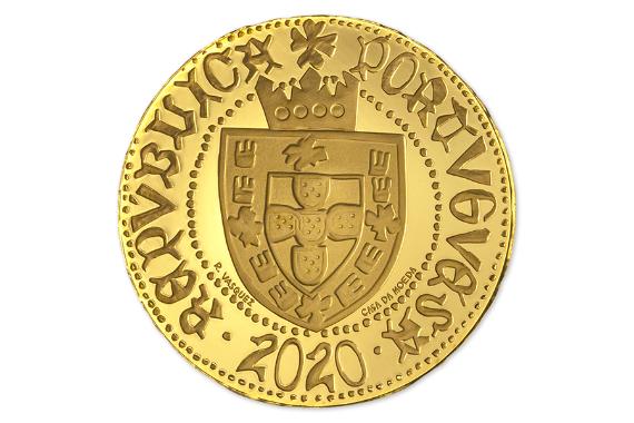 Foto 2 do produto Meio Escudo Ceuta  (Ouro Proof)