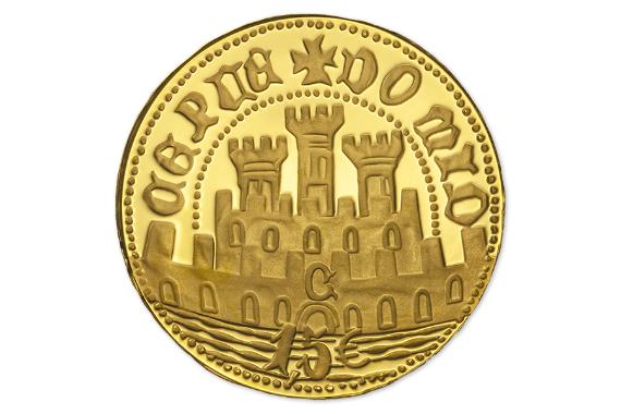 Foto 3 do produto Meio Escudo Ceuta  (Ouro Proof)