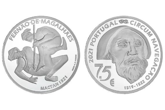 Foto 1 do produto V Centenário da Viagem de Circum-Navegação de Fernão de Magalhães - Mactan 1521 (Prata Proof)