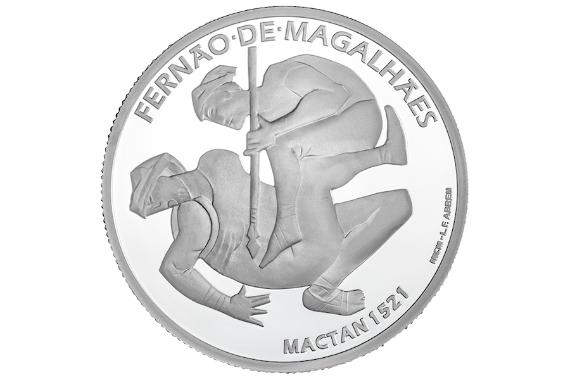 Foto 2 do produto V Centenário da Viagem de Circum-Navegação de Fernão de Magalhães - Mactan 1521 (Prata Proof)