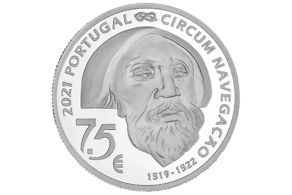 Foto 3 do produto V Centenário da Viagem de Circum-Navegação de Fernão de Magalhães - Mactan 1521 (Prata Proof)