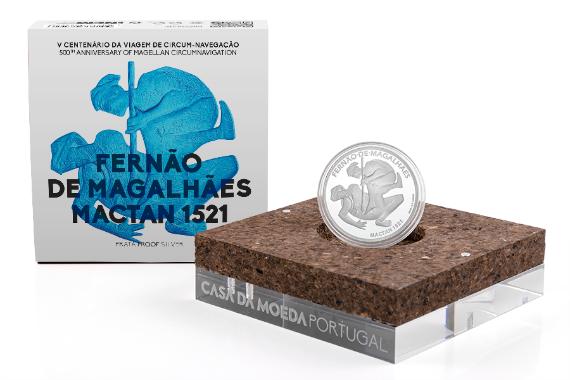 Foto 4 do produto V Centenário da Viagem de Circum-Navegação de Fernão de Magalhães - Mactan 1521 (Prata Proof)