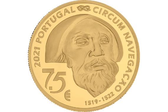 Foto 3 do produto V Centenário da Viagem de Circum-Navegação de Fernão de Magalhães - Mactan 1521 (Ouro Proof)