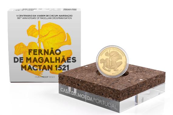 Foto 4 do produto V Centenário da Viagem de Circum-Navegação de Fernão de Magalhães - Mactan 1521 (Ouro Proof)
