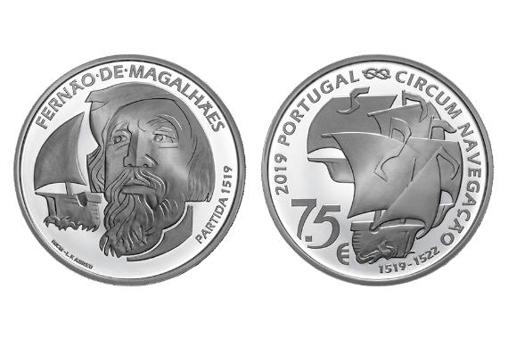 Photo 1 of V Centenário da Viagem de Circum-Navegação de Fernão de Magalhães - Partida 1519 (prata proof)
