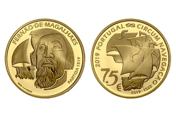 Photo 1 of V Centenário da Viagem de Circum-Navegação de Fernão de Magalhães - Partida 1519 (ouro proof)