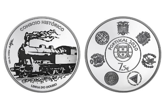 Photo 1 of Caminhos-de-Ferro – Linha do Douro (prata proof)